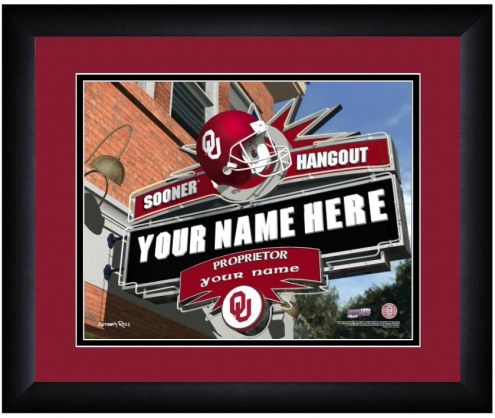 Oklahoma Sooners 13 x 16 Personalized Framed Sports Pub Print