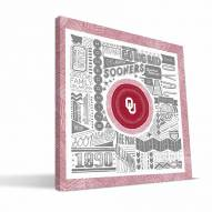 "Oklahoma Sooners 16"" x 16"" Pictograph Canvas Print"