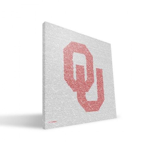 """Oklahoma Sooners 16"""" x 16"""" Typo Canvas Print"""