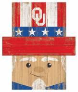 "Oklahoma Sooners 19"" x 16"" Patriotic Head"