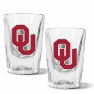 Oklahoma Sooners 2 oz. Prism Shot Glass Set