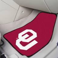 Oklahoma Sooners 2-Piece Carpet Car Mats