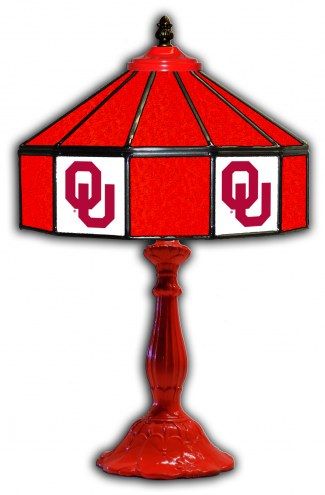 "Oklahoma Sooners 21"" Glass Table Lamp"