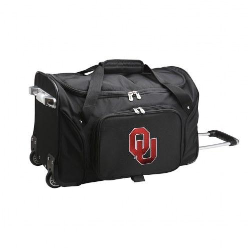 "Oklahoma Sooners 22"" Rolling Duffle Bag"