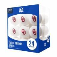Oklahoma Sooners 24 Count Ping Pong Balls