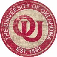 "Oklahoma Sooners 24"" Heritage Logo Round Sign"