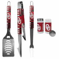Oklahoma Sooners 3 Piece Tailgater BBQ Set and Salt and Pepper Shaker Set