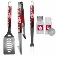 Oklahoma Sooners 3 Piece Tailgater BBQ Set and Salt and Pepper Shakers