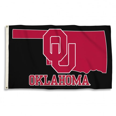 Oklahoma Sooners 3' x 5' State Outline Flag