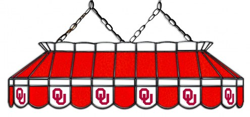 """Oklahoma Sooners 40"""" Stained Glass Pool Table Light"""