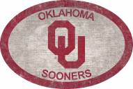 """Oklahoma Sooners 46"""" Team Color Oval Sign"""