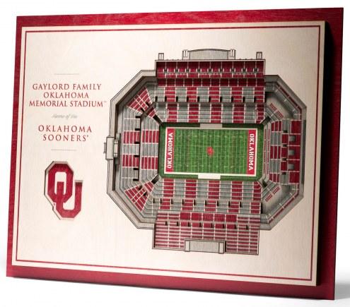 Oklahoma Sooners 5-Layer StadiumViews 3D Wall Art