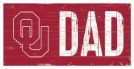 "Oklahoma Sooners 6"" x 12"" Dad Sign"