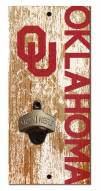 "Oklahoma Sooners 6"" x 12"" Distressed Bottle Opener"