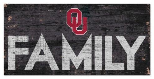 """Oklahoma Sooners 6"""" x 12"""" Family Sign"""