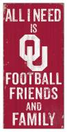 "Oklahoma Sooners 6"" x 12"" Friends & Family Sign"
