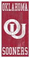 "Oklahoma Sooners 6"" x 12"" Heritage Logo Sign"