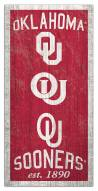 "Oklahoma Sooners 6"" x 12"" Heritage Sign"