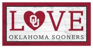 "Oklahoma Sooners 6"" x 12"" Love Sign"