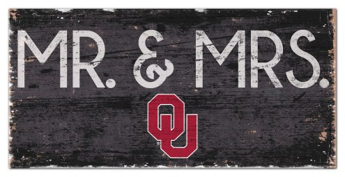 "Oklahoma Sooners 6"" x 12"" Mr. & Mrs. Sign"