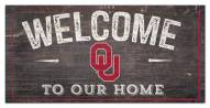 """Oklahoma Sooners 6"""" x 12"""" Welcome Sign"""
