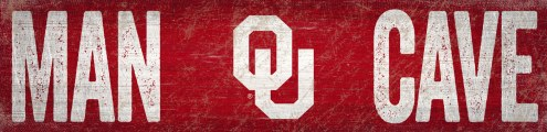 "Oklahoma Sooners 6"" x 24"" Man Cave Sign"