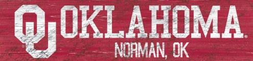 "Oklahoma Sooners 6"" x 24"" Team Name Sign"