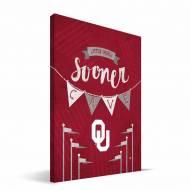 "Oklahoma Sooners 8"" x 12"" Little Man Canvas Print"
