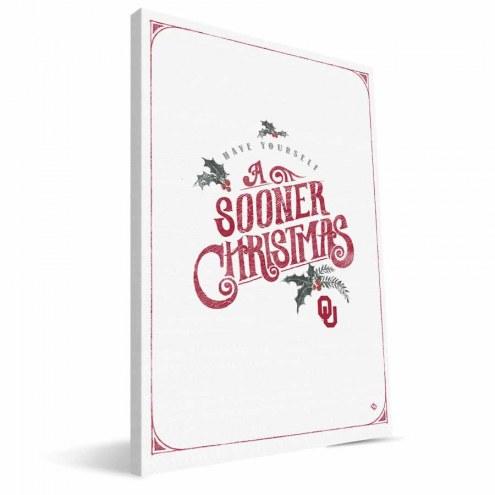 "Oklahoma Sooners 8"" x 12"" Merry Little Christmas Canvas Print"