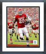 Oklahoma Sooners Adrian Peterson Action Framed Photo
