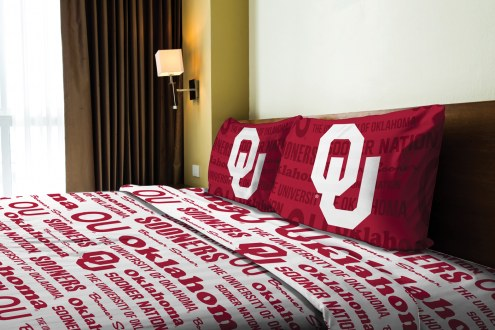 Oklahoma Sooners Anthem Full Bed Sheets