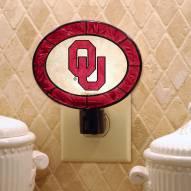 Oklahoma Sooners Art Glass Night Light