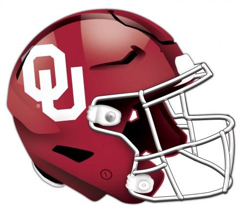Oklahoma Sooners Authentic Helmet Cutout Sign