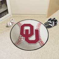 Oklahoma Sooners Baseball Rug