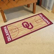 Oklahoma Sooners Basketball Court Runner Rug