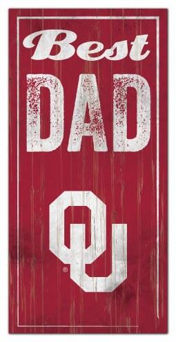 Oklahoma Sooners Best Dad Sign