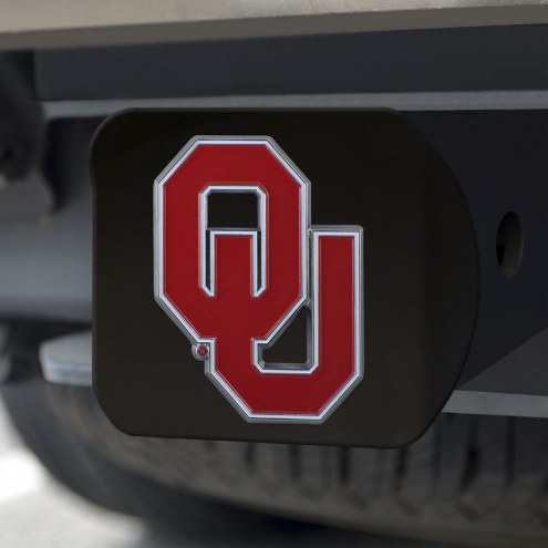 Oklahoma Sooners Black Color Hitch Cover