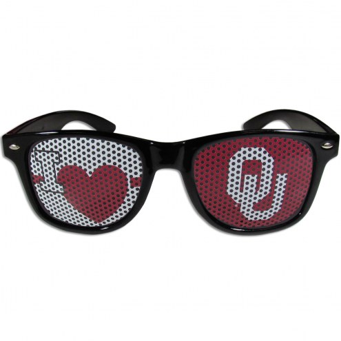 Oklahoma Sooners Black I Heart Game Day Shades