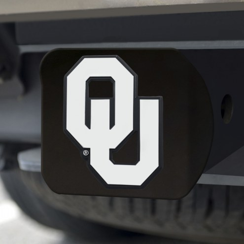 Oklahoma Sooners Black Matte Hitch Cover