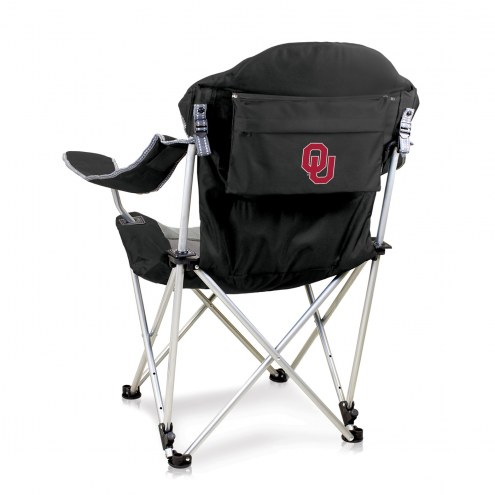 Oklahoma Sooners Black Reclining Camp Chair