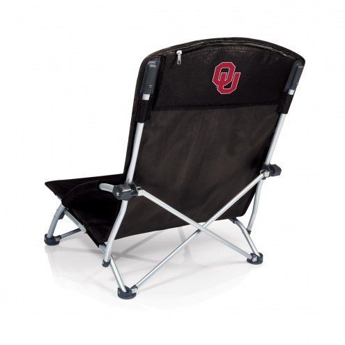 Oklahoma Sooners Black Tranquility Beach Chair
