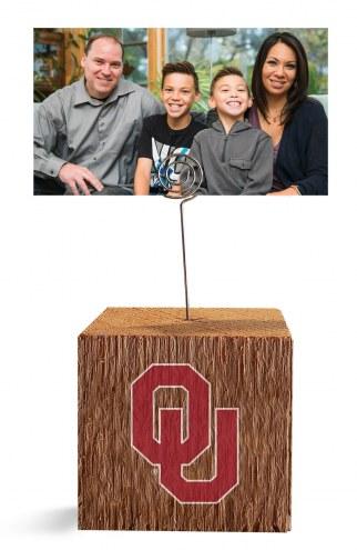 Oklahoma Sooners Block Spiral Photo Holder