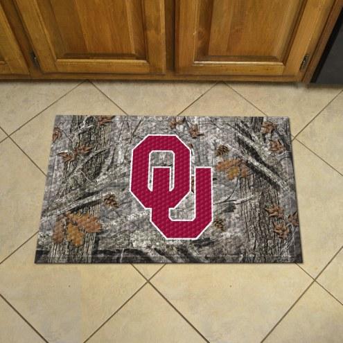Oklahoma Sooners Camo Scraper Door Mat