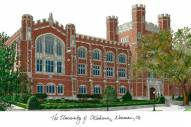 Oklahoma Sooners Campus Images Lithograph