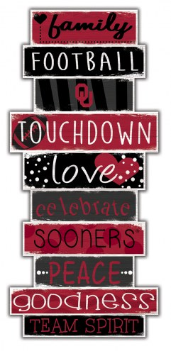 Oklahoma Sooners Celebrations Stack Sign