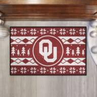 Oklahoma Sooners Christmas Sweater Starter Rug
