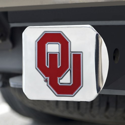 Oklahoma Sooners Chrome Color Hitch Cover