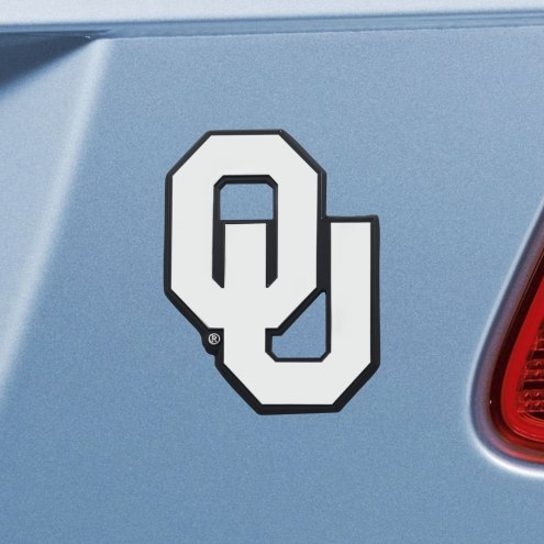 Oklahoma Sooners Chrome Metal Car Emblem