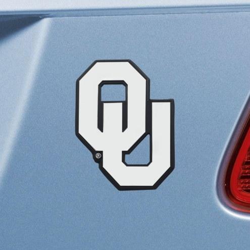 Oklahoma Sooners Chrome Metal Car Emblem