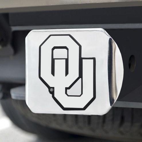 Oklahoma Sooners Chrome Metal Hitch Cover